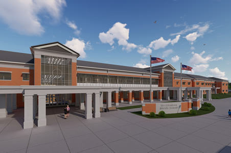 Rendering of new Mecklenburg Middle School